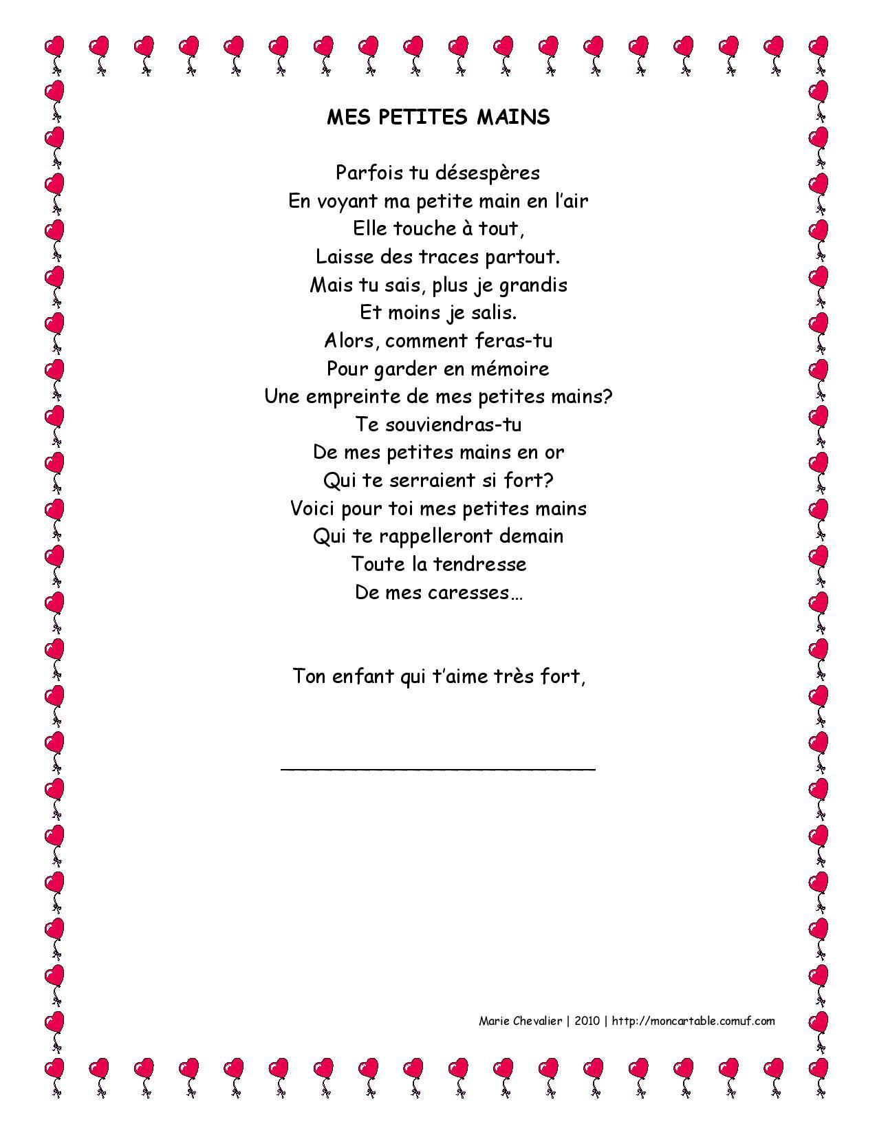 Poème Pour La Fête Des Mères Rapido Présco