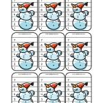 Jeu de batailles de bonshommes de neige