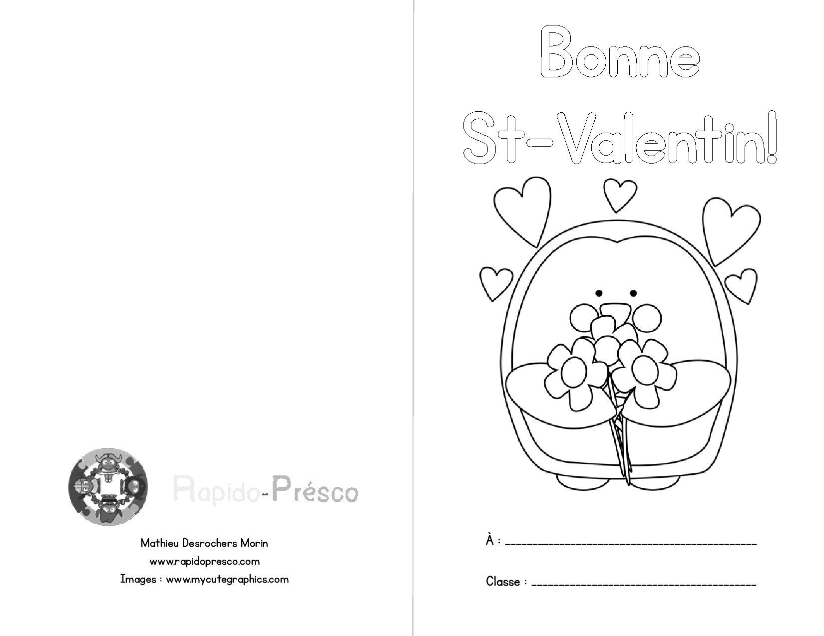 Frais Dessin A Colorier Saint Valentin